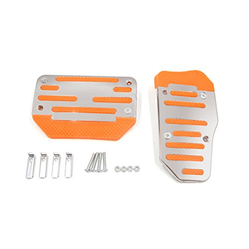 - uxcell 2 in 1 Racing Sports Non-Slip Automatic Car Gas Brake Pedal Pads Cover Orange