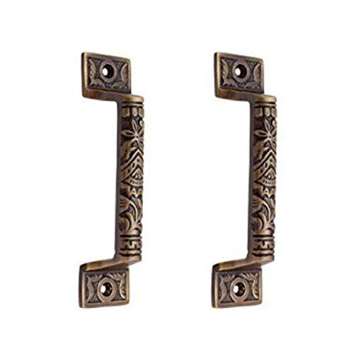 Adonai Hardware 126mm Gergesenes Decorative Brass Door and Cabinet Pull - Antique  Brass - Antique Door Pulls: Amazon.com