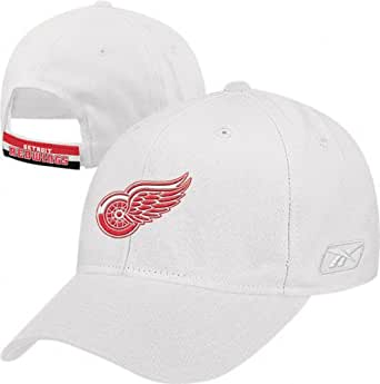 Amazon.com : Detroit Red Wings BL White Adjustable Hat