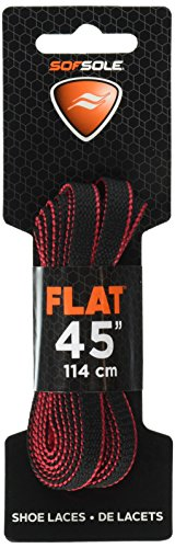 sof-sole-athletic-flat-shoe-lace-black-red-two-tone