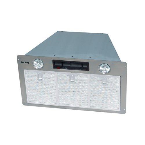 Air King SEV28S 500 CFM 3-Speed Under Cabinet Power Pack Range Hood with Dual Ha, Stainless Steel