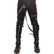 Tripp Men's Bondage Punk Rocker Emo Goth Tight Skinny Jeans