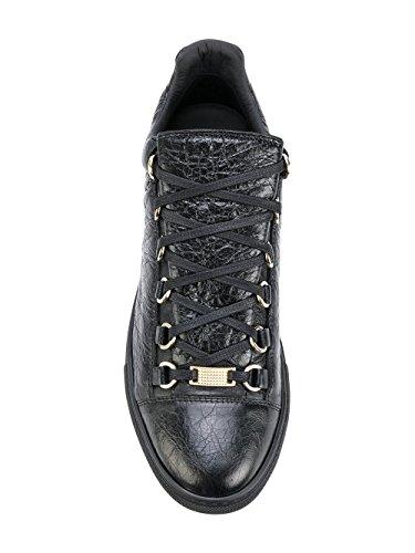 Uomo Balenciaga Nero Pelle Sneakers 477285WAD401000 fqpqz5