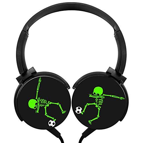 Halloween Skeleton Dab Stereo Headphone Wired Headset Over-Ear -