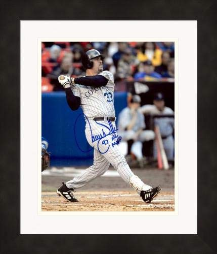 Autographed Larry Walker Photo - 8x10 inscribed 97 NL MVP Matted & Framed - Autographed MLB Photos
