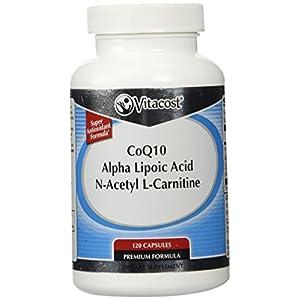 Vitacost Synergy Acetyl L Carnitine, Alpha Lipoic Acid & CoQ10 120 Capsules