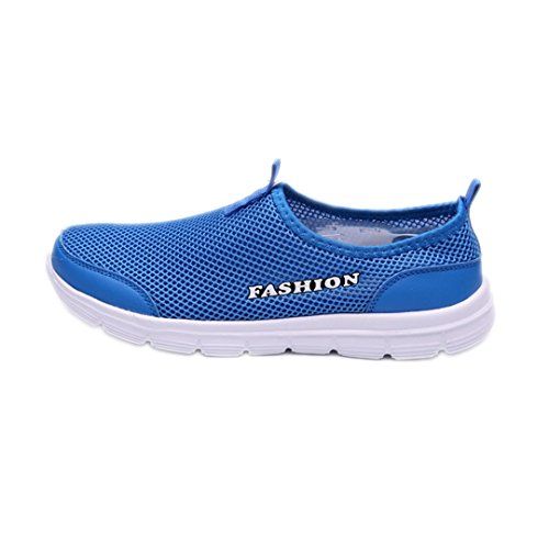 Men And Women Outdoor Breathable Beach Shoes Lightweight Fast Interference Water Shoes Water Camping Sneakers Blue 9 by BEACHR
