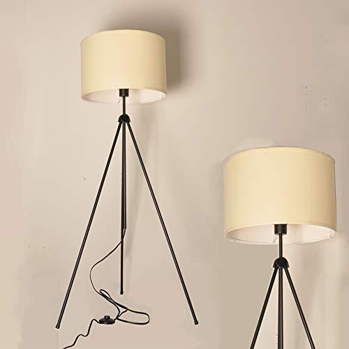 Decoluce Modern Minimalist Standing Tripod Floor Lamp Designer Studio Adjustable Elegant White Shade for Living Room (Living Room For Lamps Elegant)