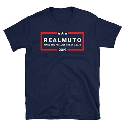 LiberTee Realmuto Make The Phillies Great Again Tshirt, Funny 2019 Baseball Shirt for Philly Fans, Unisex Printed in USA ()
