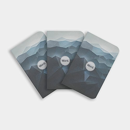 Word Notebooks Blue Mountain - 3-Pack Small Pocket Notebooks