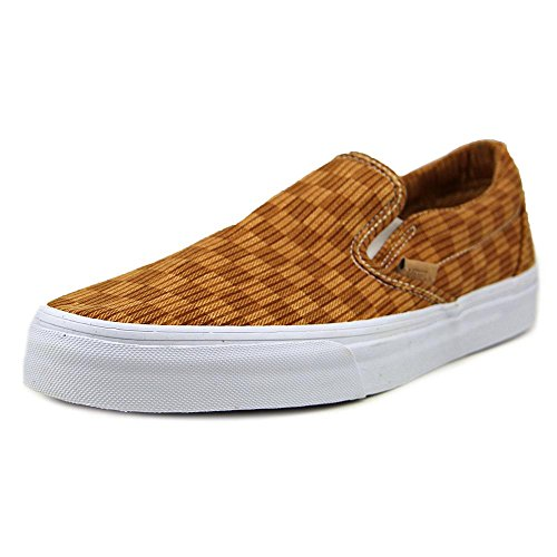 Vans Classic Slip-On (Washed Herringbone) unisex erwachsene, canvas, sneaker slip on washed herringbone gold check