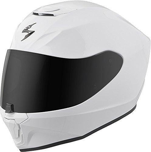 Scorpion EXO-R420 Full-Face Solid Street Bike Motorcycle Helmet - White/Medium