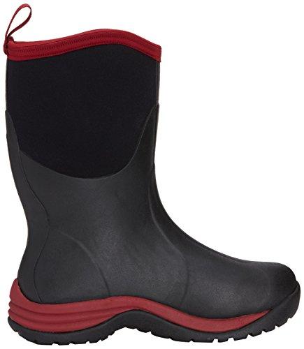 Muck Mens Arktisk Pendlare Boot Svart / Röd