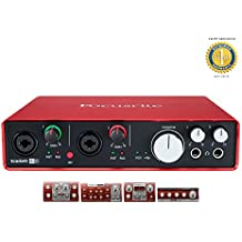 Focusrite Scarlett 6i6 Second Generation (2nd Gen) 6 In/6 Out USB 2.0 Audio Interface with Pro Tools | First and 1 Year Free Extended Warranty