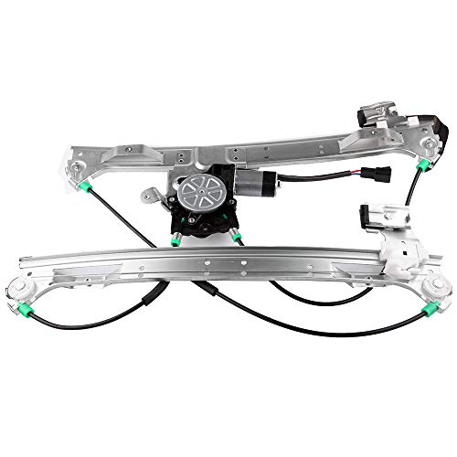 Front Left Drivers Side Power Window Regulator with Motor Assembly Replacement fit for 2002-2009 Chevrolet/GMC Trailblazer/Envoy 2005-2009 Saab 9-7x 2003-2008 Isuzu Ascender 2004-2007 Buick Rainier