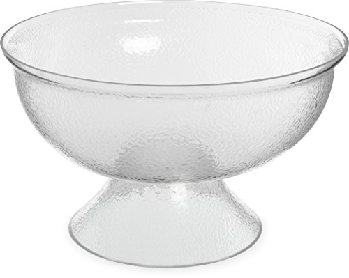 Carlisle SP1807 Acrylic Pebbled Punch Bowl, 16-qt. Capacity, 17.75'' Diameter x 10.63'' Overall Height x 6.5'' Depth, Clear by Carlisle (Image #7)