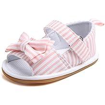 Herekind Princess Baby Girls Summer Shoes Crib Footwear Newborn Infant Toddler Soft Rubber Sole Bowknot Outdoor Beach First Walker Shoes