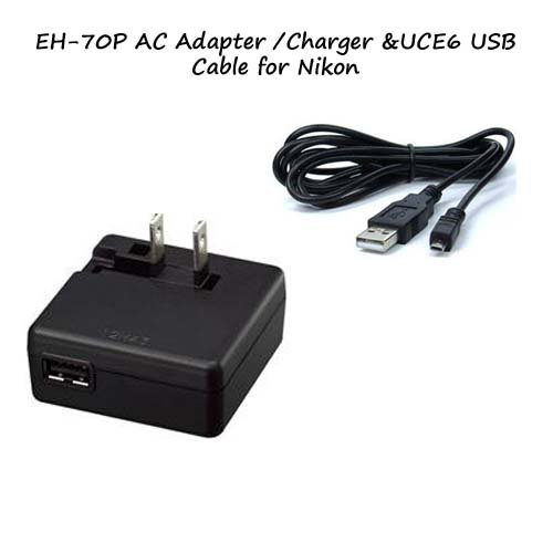 Eh 70p Ac Adapter Charger Uc E6 Usb Cable For Nikon