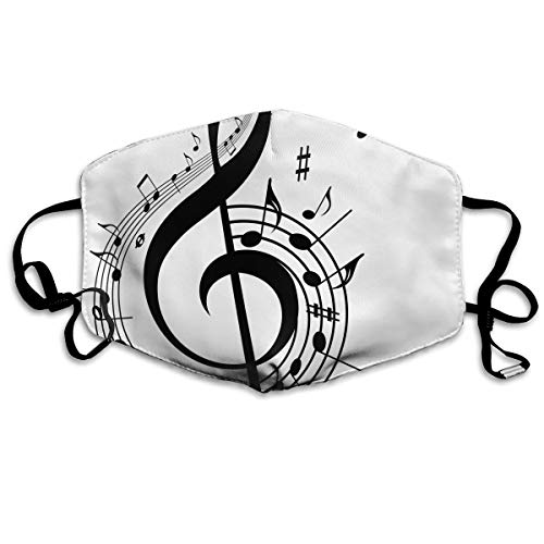 Anti Dust Mask Music Idioms Face Mouth Cover Winter Healthy Reusable For Students Halloween]()