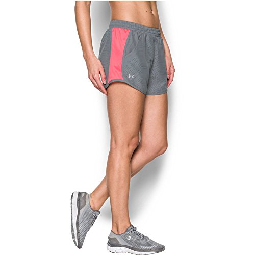 Under Armour Women's UA Fly-By Perforated Run Short XL (US 16) x One Size Steel