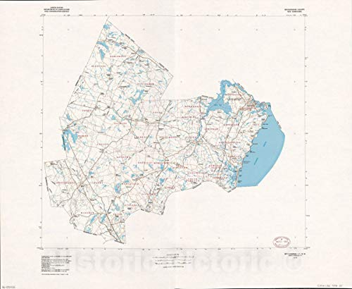 Historic 1978 Map | Rockingham County, New Hampshire 54in x 44in