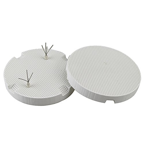 Airgoesin 2pcs Dental Lab Honeycomb Round Firing Trays 72mm with 10pcs Amann Girrbach Pins Tool