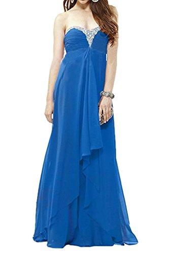 Pailletten Gelb Festlichkleider Braut Traegerlos Partykleider Empire Abschlussballkleider Blau Abendkleider mia Elegant Lang Ballkleider La Royal XfwgtBqB