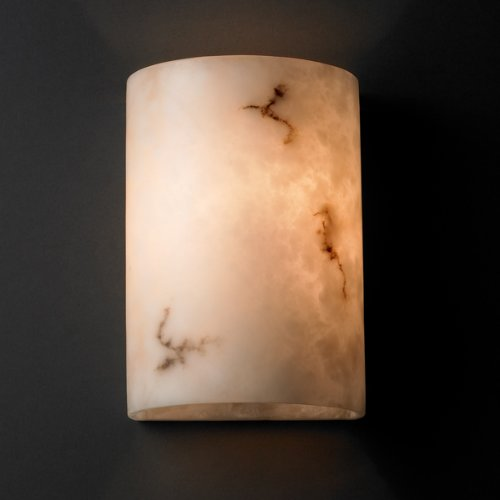 Justice Design Group LumenAria 1-Light Wall Sconce - Faux Alabaster Resin Shade