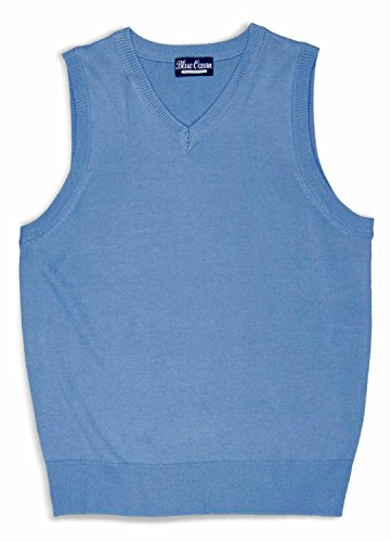 Blue Ocean Kids Solid Color Sweater Vest-8-10/Small,