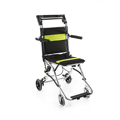 BeautySu. Professional Portable Wheelchair, High Quality 2000 Aluminum Alloy Hand Push Wheelchair, Light, Breathable, Anti-skid Protection, Can be Boarding