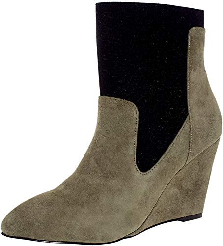 CHARLES BY CHARLES DAVID Women's Erie Stone Grey Boot 9.5 B (M) (David Stone Shoes)