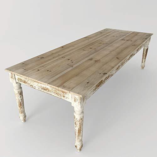 Mesa comedor madera blanca decapada: Amazon.es: Handmade