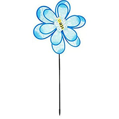 Ultimate Innovations Flower Petal Nylon Wind Spinners (Blue Flower): Garden & Outdoor