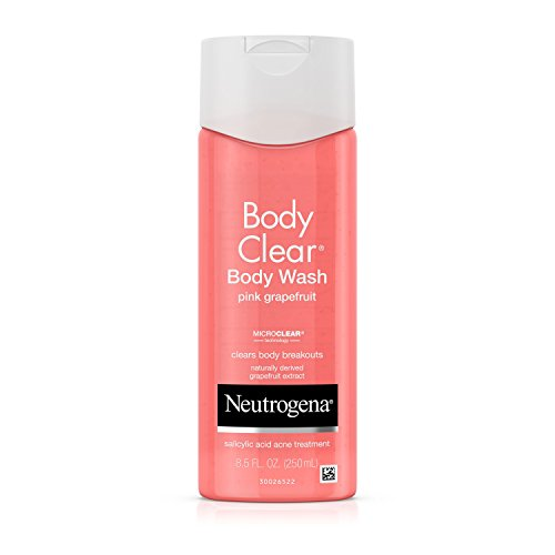 Neutrogena Body Clear Body Wash, Salicylic Acid Acne Treatment, Pink Grapefruit, 8.5 Fl. Oz. (Pack of 3)