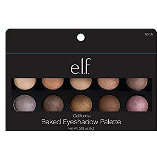 e.l.f. Cosmetics Baked Eyeshadow Palette, 10 Oven-Baked Eyeshadows for Beautiful Eyes, ()