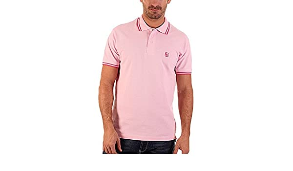 CLK Polo - Polo De Marga Corta Liso Color Rosa, Talla L: Amazon.es ...