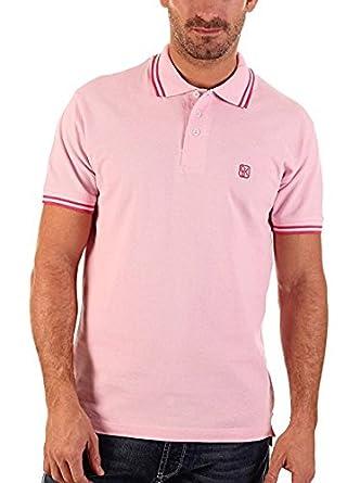 CLK Polo - Polo De Marga Corta Liso Color Rosa, Talla L: Amazon.es ...