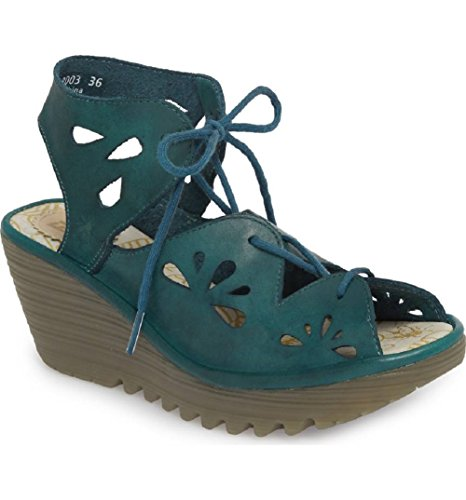 Wedge Fly Sandals Blue Yote London q7Owg7