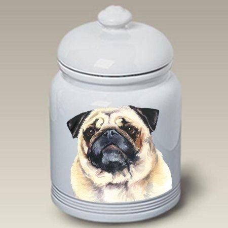 - Pug Fawn - Barbara Van Vliet Ceramic Treat Jars
