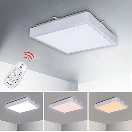LED Deckenleuchte Badleuchte Küche Deckenlampe Dimmbar Lampe IP44 Fernbedienung