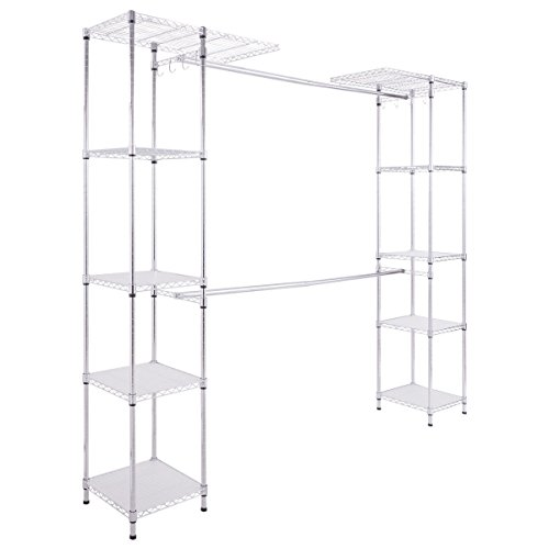 totoshop Expandable Closet Organizer Free Standing Clothes H