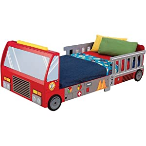KidKraft Fire Truck Toddler Bed 5