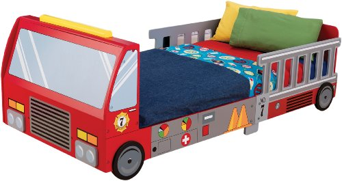 (KidKraft Fire Truck Toddler Bed)