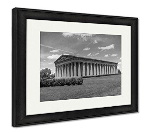 Tn Nashville Framed (Ashley Framed Prints Parthenon in Centennial Park Nashville Tn, Wall Art Home Decoration, Black/White, 26x30 (Frame Size), Black Frame, AG6465832)