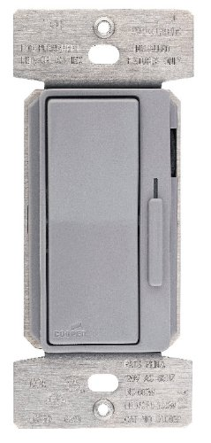 Eaton DLC03P-GY 300-Watt Dimmable LED/Compact Fluorescent/600-Watt Incandescent/Halogen Decorator Dimmer with Preset, Gray