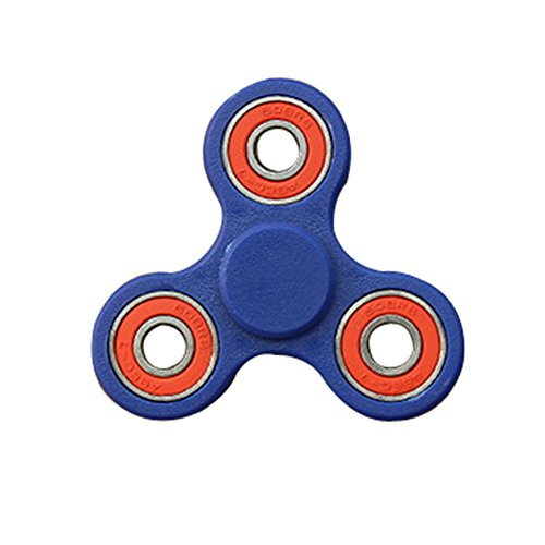 The Anti-Anxiety 360 Spinner Helps Focusing Fidget Toys Premium Quality EDC Focus Toy for Kids & Adults - Best Stress Reducer Relieves ADHD Anxiety and Boredom Ceramic Cube Bearing (Dark Blue)