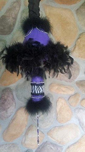 (Hanging Pendant Feather Swag Floor Lamp Purple Zebra Stripe Unisex)