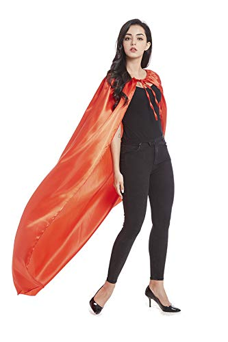 Crizcape Adults Capes Womens and Mens DIY Dress up Costume Capes for Party Red -