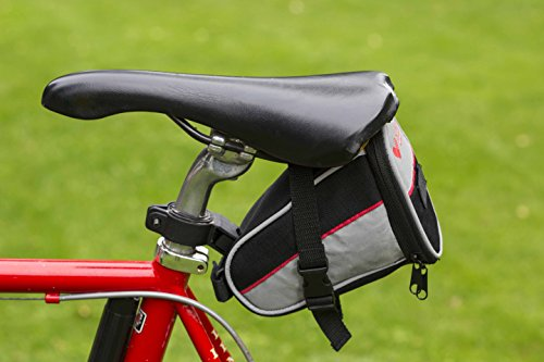 SJ WORKS Saddle Pouch Bicycle First Aid Kit, fit for Most Bicycle Saddles,Road Bike & Mountain Bike Cycling First aid kit with an Emergency Bike Light(No Battery) by SJ WORKS (Image #9)