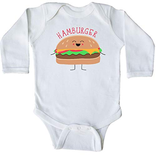 inktastic - Hamburger Costume Long Sleeve Creeper Newborn White 31d0b ()